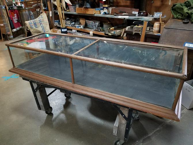 Antique Display Case with Super Wavy Glass