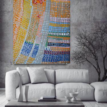 "Custom Order for AMANDA Kilgour 36"" x 48"" Canvas Painting Abstract Minimalist Modern Original Contemporary Artwork by ArtbyDinaD"