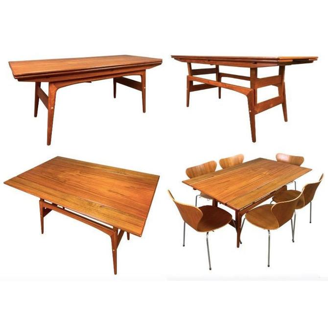 Vintage Danish Mid Century Modern Teak Elevator Coffee-Dining Table Attributed to Kai Kristiansen by AymerickModern