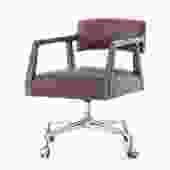 """Tyler"" Desk Chair in Brown"
