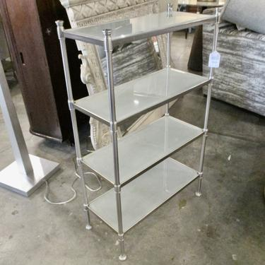 RESTORATION HARDWARE FROSTED GLASS ETAGERE
