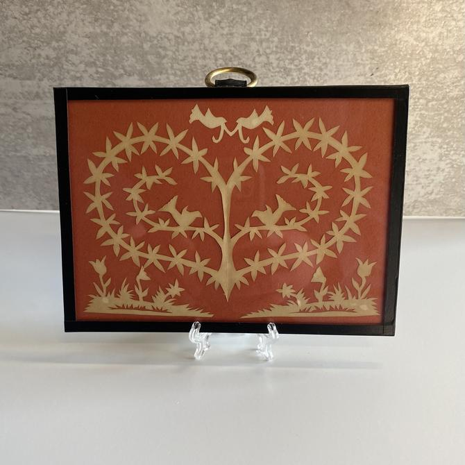 Vintage heart and bird Paper-cut