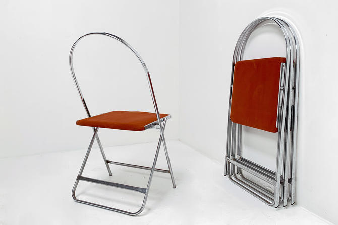 Folding Chrome Chair (set/4) by BetsuStudio