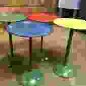 "Colorful nesting tables? 22"" tall has four tables"