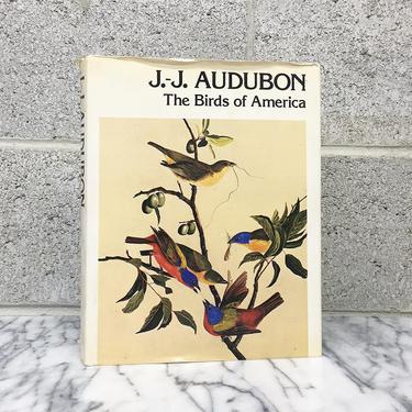 Vintage Birds of America Book Retro 1970s J.J. Audubon + Hardcover + Colored Drawings + Illustrations + American Wilderness + Home Decor by RetrospectVintage215