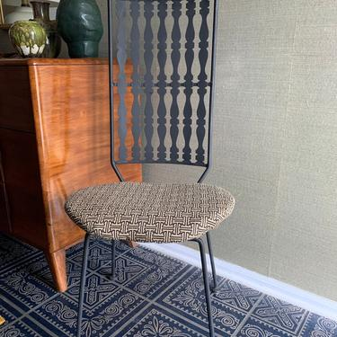 Arthur Umanoff Mid Century Wrought Iron High Back Chairs Set- Rare Baluster Pattern by TheFINDstuff4thehome