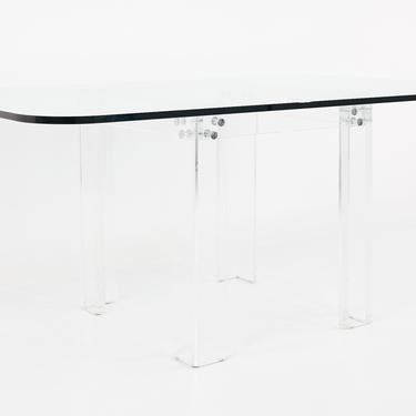 Charles Hollis Jones Mid Century Lucite and Glass Dining Table - mcm by ModernHill