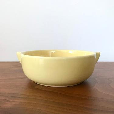 Vintage Gladding McBean Franciscan El Patio Soup Bowl with Tabbed Handles in Chinese Yellow by TheThriftyScout