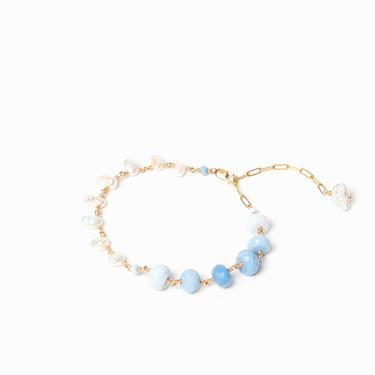Blue Opal Pearl Bracelet