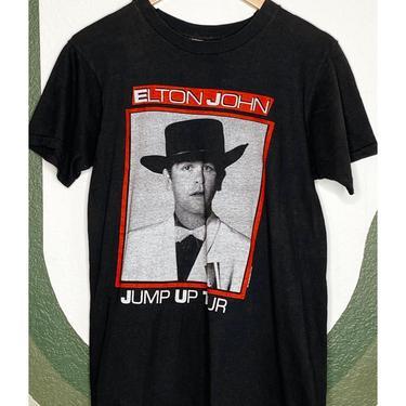 Black 80's Elton John Tee