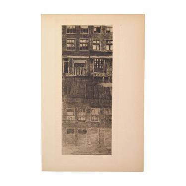 """Albert Baertsoen - Reflections """"Reflets"""" 1909 Etching Gazette des Beaux Arts by PrairielandArt"""