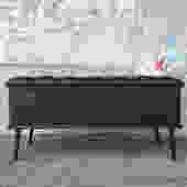 Black Chesterfield Storage Bench
