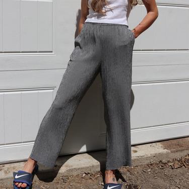 Vintage Seersucker Trousers / Plaid Leisure Pants / 90's TALBOTS Slacks / Medium by smockwalkervintage