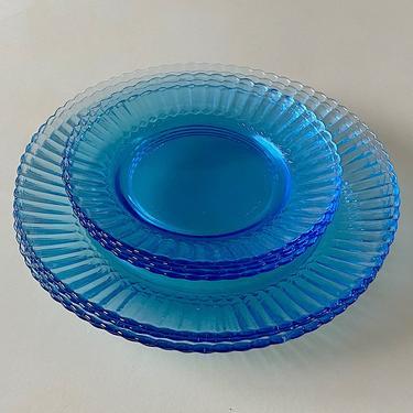 Ice Blue Glass Plates
