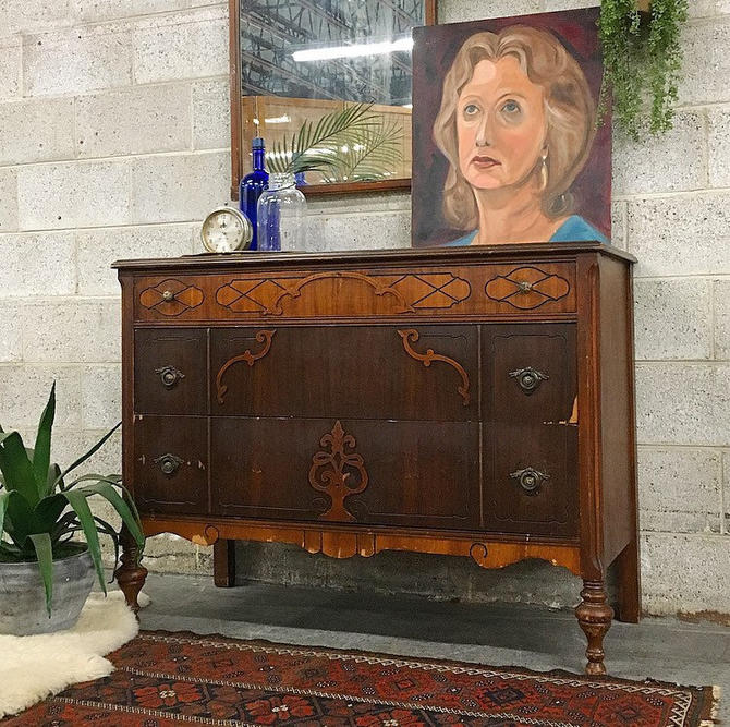 LOCAL PICKUP ONLY ------------- Antique Dresser by RetrospectVintage215