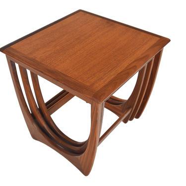 Set of English Modern Mid Century Teak Nesting Tables by G Plan #2 by MidCenturyMobler