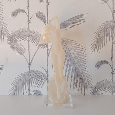 Vintage Statue, Nude Female,  The Crystalite Collection, Crystal Craft, Italian Design, Art Deco Revival, Lucite, circa 70's by DecoDiscoDecor