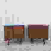 Pair of Unique Mid Century Nightstands