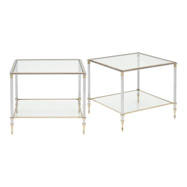 Vintage French Pair of Side Tables