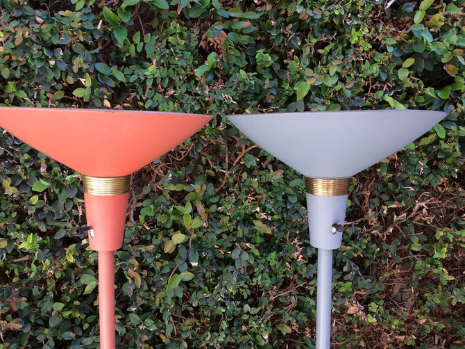 Pair Torchiere Lamps
