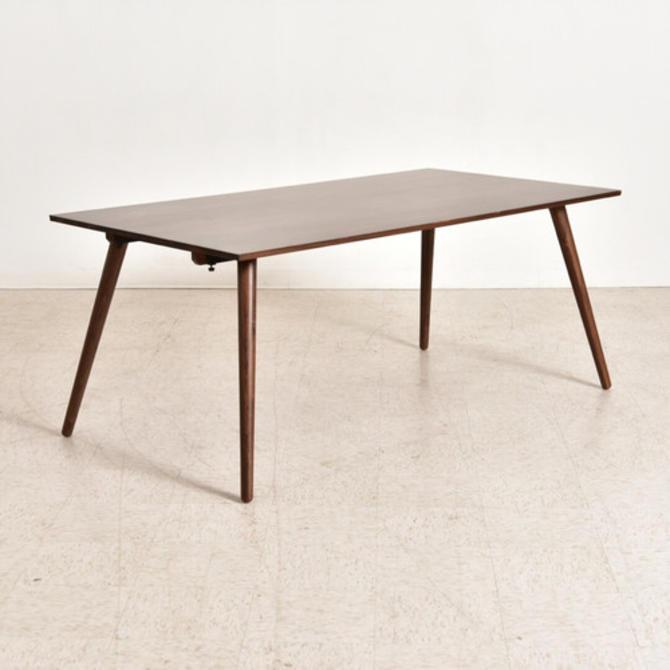 Walnut Modern Dining Table with Leaf