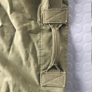 ARmy Green Vintage Duck Canvas Duffle Bag Sack Satchel Vintage Mid-Century Cabinmodern Rustic by BrainWashington