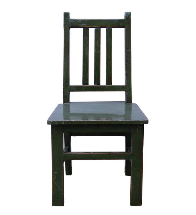 Oriental Handmade Dark Green Color Small Size Wood Chair wk2614E by GoldenLotusAntiques
