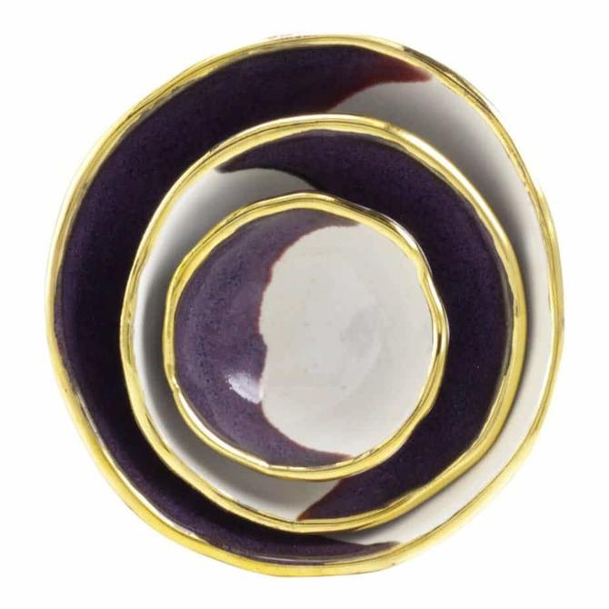 Crescent Purple Jewelry Dishes