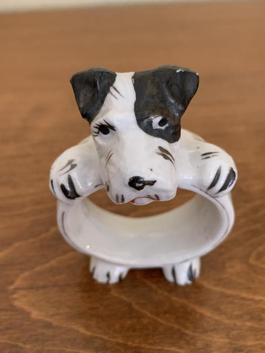 Vintage Dog Themed Napkin Ring by FunkyRelic