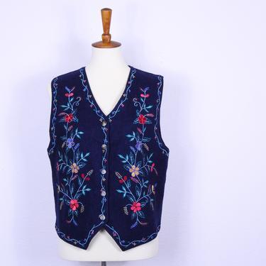 Vintage Scandinavian Style Wool Vest / Vintage Bohemian Style Vintage Wool Vest by blackwellhabitat
