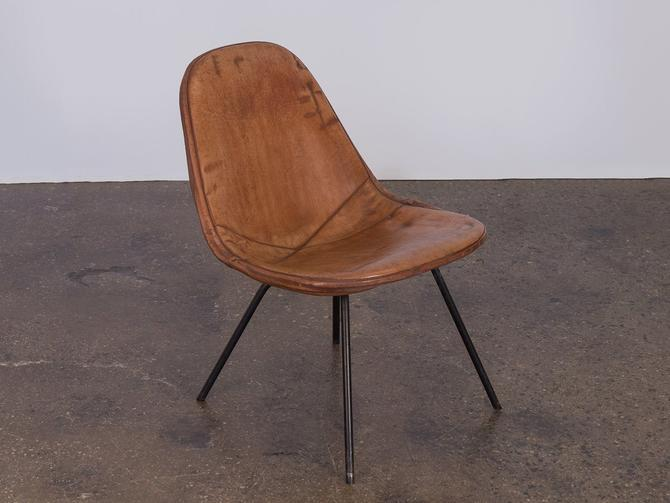 Eames Wire Chair with Leather Covering by openairmodern