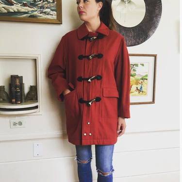 1960's McGregor wool and bone toggle hunting coat by MamaTequilasVintage