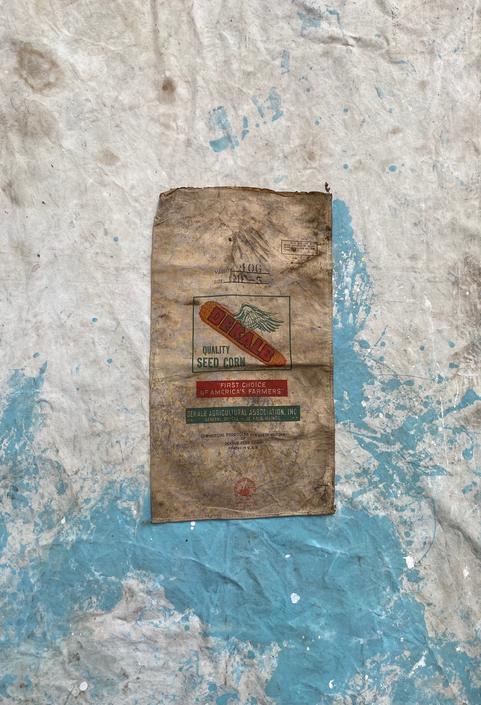 Vintage Dekalb Waterproof Seed Sack Rustic Textile by NorthGroveAntiques