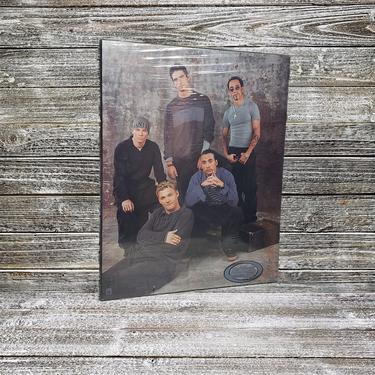 NOS Backstreet Boys Wood Poster, Vintage 2000 Y2K Funky Enterprises Wall Plaque, 1990s Boy Band, Nick Carter, Brian Littrell, Wall Hanging by AGoGoVintage