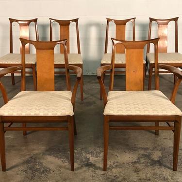 Mid-Century Modern Dining Chair ~ Set Of 6 / By White Furniture by modernmidcenturyfurn