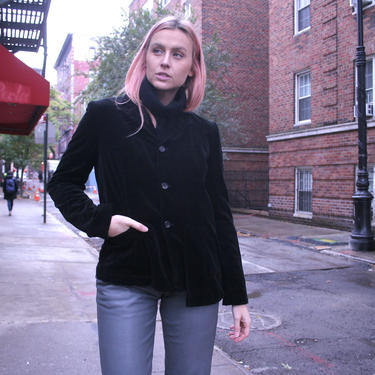 Rare! Comme De Garcons Asymetrical Blazer | Womens Large | Tailored Jacket | Felt | 90s Retro | Goth | Punk by HamletsVintage