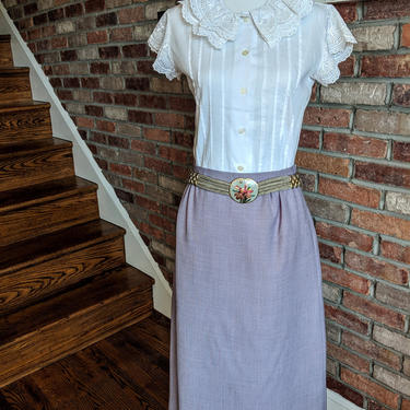 Vintage 1960's-70's Lilac Purple Skirt with Pockets by BeesKneesVintageDC