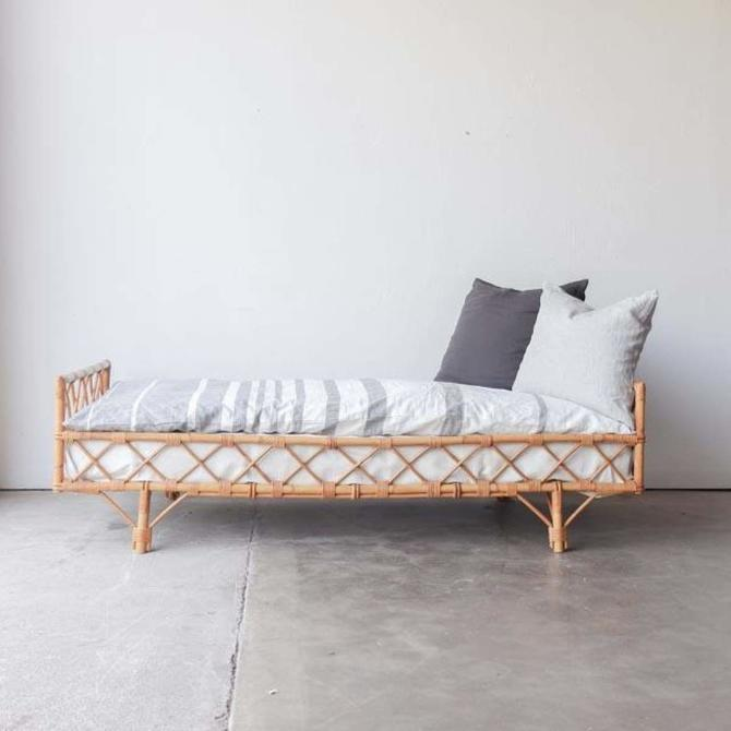 Vintage French Bamboo Daybed