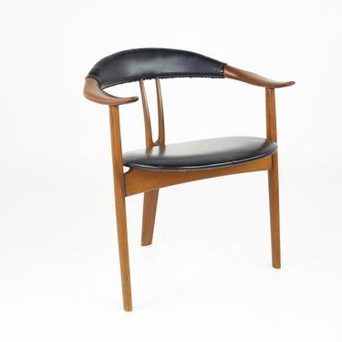Arne Hovmand Olsen for Mogens Kold Mid Century Danish Teak and Leather Lounge Chair - mcm by ModernHill