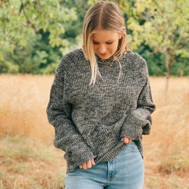 Vintage Grey Heather Sweater by MadroneClothing