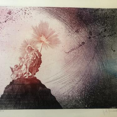 Collection of Vintage Large, Signed Limited Edition Etchings of the 8 Days of Creation in the style of William Blake by MadCoolNYC