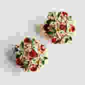 Eisenburg Green Red and Clear Rhinestone Earrings by LegendaryBeast