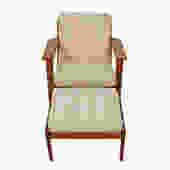 Hans Wegner GE 290 Low Back Lounge Chair Ottoman for GETAMA