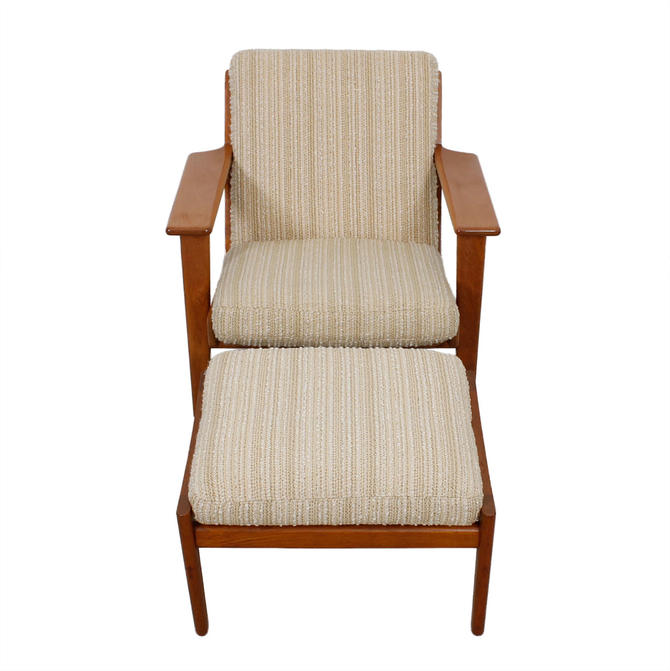 Hans Wegner GE 290 Low Back Lounge Chair Ottoman for GETAMA from ...