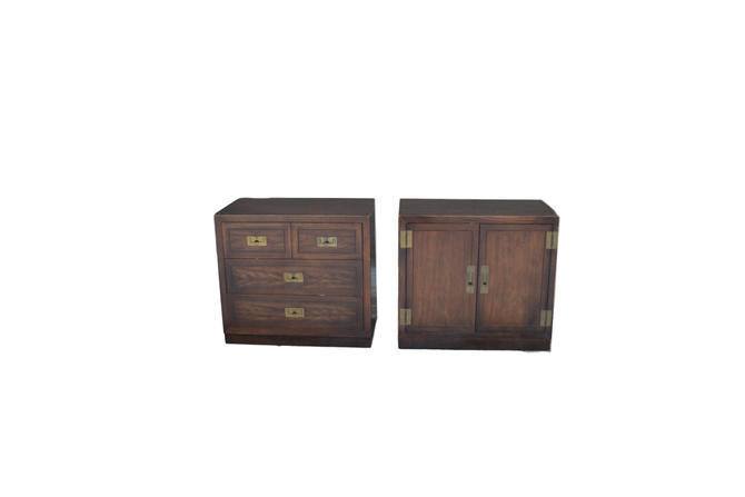 pair of campaign dixie nightstands customization included by Dianemarieshome