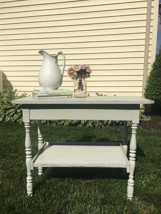 Vintage Grey Painted Cottage Table