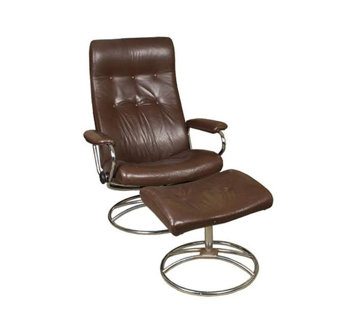 Amazing Vintage Ekornes Stressless Reclining Chair Ottoman Leather Pickup Only By Urbaninteriorsbalt Caraccident5 Cool Chair Designs And Ideas Caraccident5Info
