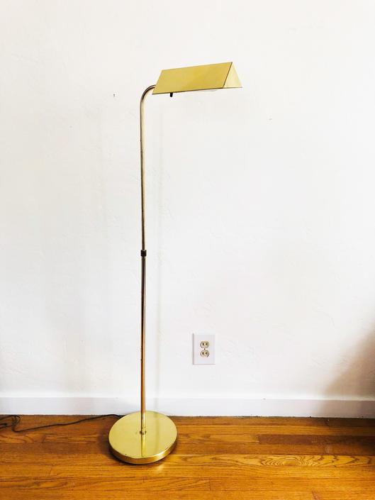 Vintage Brass Pharmacy Floor Lamp, Vintage Pharmacy Task Lamp