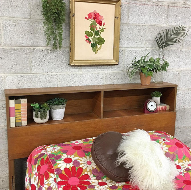 LOCAL PICKUP ONLY ------------ Vintage mcm Headboard by RetrospectVintage215