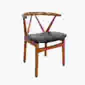 Teak Arm Chair Henning Kjaernulf Model 225, Bruno Hansen Chair Danish Modern by HearthsideHome